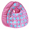 Ikat Pink Diamond Bib Set