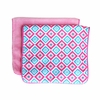 Ikat Pink Diamond Burp Cloth Set