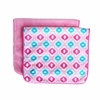 Ikat Pink Mod Burp Cloth Set