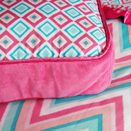 Ikat Pink Throw Pillow