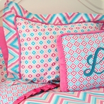 Ikat Pink Pillow Sham