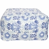 Ikat Pouf in Blue