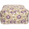 Ikat Pouf in Purple and Green