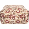 Ikat Pouf in Red and Brown