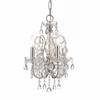 Imperial Four Light Clear Crystal Chrome Mini Chandelier I
