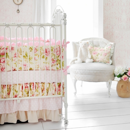 In Full Bloom Crib Skirt