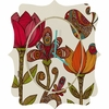 In The Garden Quatrefoil Wall Clock