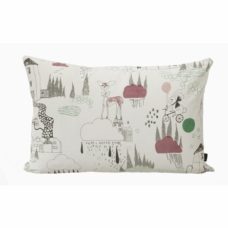 In the Rain Organic Cotton Throw Pillow
