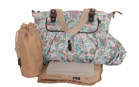 Indian Paisley Gathered Diaper Bag