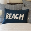Indigo Beach Linen Throw Pillow