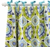 Indigo Summer Curtain Panels - Set of 2