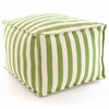 Indoor/Outdoor Pouf in Trimaran Sprout and Ivory