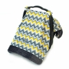 Infant Car Seat Canopy in Sunshine Chevron