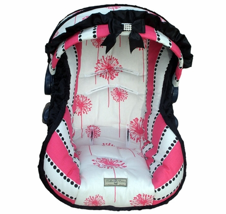 Infant Car Seat Cover in Baby Dahlia
