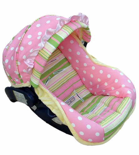 Infant Car Seat Cover in Baby Emily