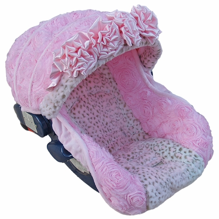 Infant Car Seat Cover in Baby Lynx Rose