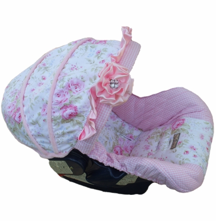 Infant Car Seat Cover in Baby Sadie