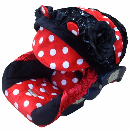 Infant Car Seat Cover in MiMi Mouse Rose