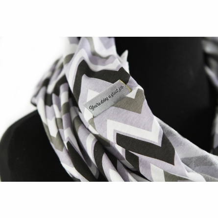 Infinity Scarf Nursing Cover in Charcoal Haze Chevron