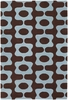 Inhabit Mod Rug in Blue and Brown