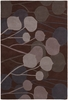 Inhabit Modern Floral Rug in Brown