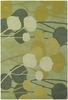 Inhabit Modern Floral Rug in Green