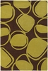 Inhabit Pod Rug in Green and Brown