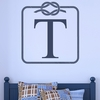 Initial Rope Frame Personalized Wall Decal