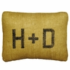 Initials Burlap Pillow