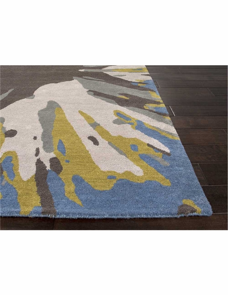 Inked Rug in Ensign Blue