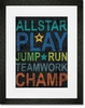 Inspire Me - All Star Framed Art Print