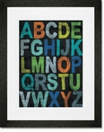 Inspire Me - Alphabet Boy Framed Art Print