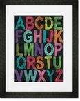Inspire Me - Alphabet Girl Framed Art Print