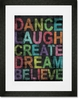 Inspire Me - Believe Framed Art Print