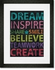 Inspire Me - Dream Framed Art Print