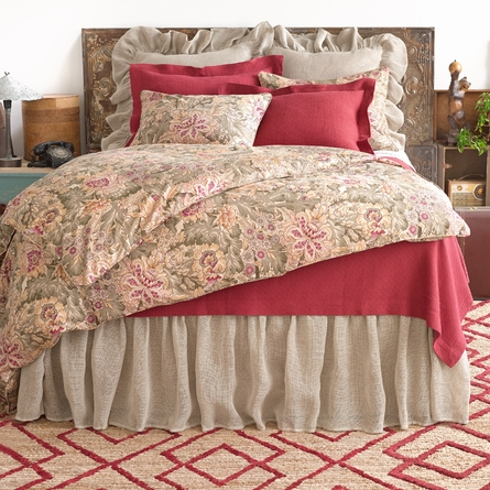 Interlaken Brick Matelasse Coverlet
