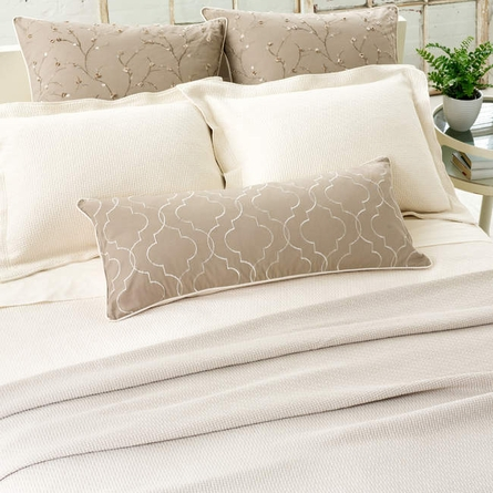 Interlaken Ivory Matelasse Coverlet