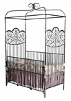 Intricate Iron Canopy Crib