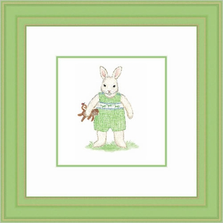 Ira Bunny Framed Lithograph
