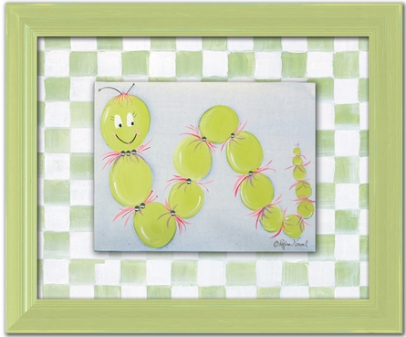 Iris Inchworm Personalized Framed Canvas Reproduction