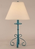 Iron S-Leg Table Lamp in Heavy Distressed Jade