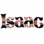 Isaac Plaid Hand Painted Wall Letters