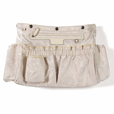 Isabelle Patent Leather Diaper Bag in Off White