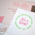 It's A Girl! Baby Announcement Personalized Self-Inking Stamp