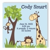 It's a Jungle Boy Personalized Canvas Birth Announcement