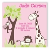 It's a Jungle Girl Personalized Canvas Birth Announcement