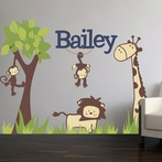 It's A Jungle Out There Fabric Wall Decal