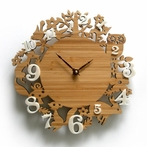 It's My Forest Bamboo and Ivory Wall Clock