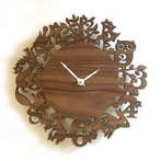 It's My Forest Walnut Wall Clock