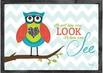 It's Not How You Look Owl Framed Art Print